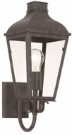 Crystorama DUM-9801-GE Dumont Traditional Graphite Exterior 7  Lighting Sconce