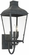 Crystorama DUM-9802-GE Dumont Traditional Graphite Outdoor 9  Lamp Sconce