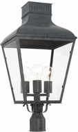 Crystorama DUM-9808-GE Dumont Traditional Graphite Exterior Post Light