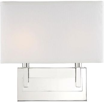 Crystorama DUR-A3542-PN Durham Contemporary Polished Nickel Lighting Wall Sconce
