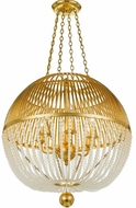 Crystorama DUV-626-GA Duval Antique Gold Drop Lighting Fixture
