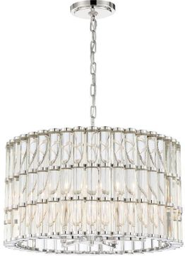 Crystorama ELL-B3006-PN Elliot Contemporary Polished Nickel Ceiling Light