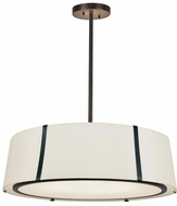 Crystorama FUL-907-BK Fulton Contemporary Black Pendant Lighting