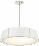 Crystorama FUL-907-PN Fulton Contemporary Polished Nickel Lighting Pendant