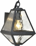 Crystorama GLA-9701-WT-BC Glacier Black Charcoal Exterior 8  Wall Sconce