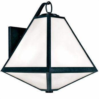 Crystorama GLA-9702-BC Glacier Black Charcoal Outdoor Wall Lighting Fixture