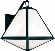 Crystorama GLA-9702-OP-BC Glacier Black Charcoal Outdoor 14  Wall Lamp