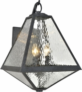 Crystorama GLA-9702-WT-BC Glacier Black Charcoal Exterior 14  Wall Lighting