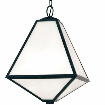 Crystorama GLA-9705-BC Glacier Black Charcoal Outdoor Ceiling Pendant Light