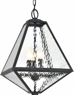 Crystorama GLA-9705-WT-BC Glacier Black Charcoal Exterior Pendant Lighting