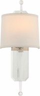 Crystorama HAR-8301-CL Harris Polished Nickel Sconce Lighting