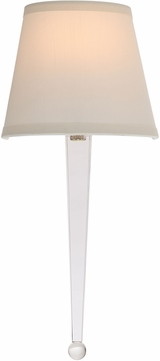 Crystorama HAR-8601-CL Harris Polished Nickel Light Sconce