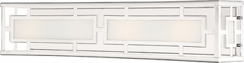 Crystorama HIL-994-PN Hillcrest Contemporary Polished Nickel Bathroom Sconce