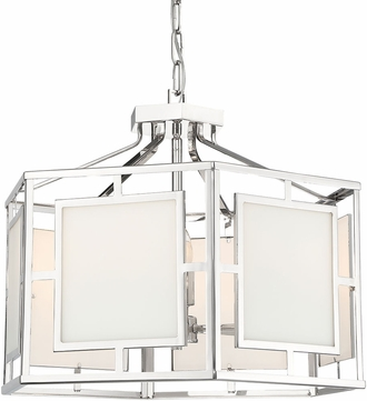 Crystorama HIL-995-PN Hillcrest Contemporary Polished Nickel 22  Foyer Lighting Fixture