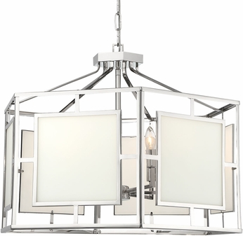 Crystorama HIL-996-PN Hillcrest Contemporary Polished Nickel 28 Foyer Lighting