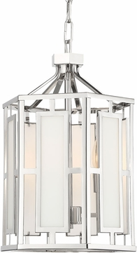 Crystorama HIL-997-PN Hillcrest Contemporary Polished Nickel Foyer Lighting Fixture