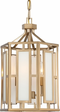 Crystorama HIL-997-VG Hillcrest Modern Vibrant Gold Entryway Light Fixture
