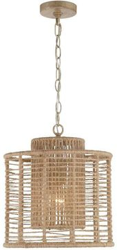 Crystorama JAY-A5001-BS Jayna Burnished Silver Pendant Light Fixture