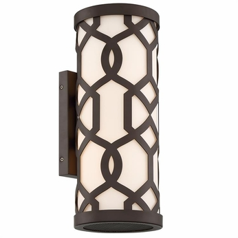 Crystorama JEN-2202-DB Jennings Contemporary Dark Bronze Outdoor Wall Sconce Light