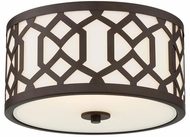 Crystorama JEN-2203-DB Jennings Modern Dark Bronze Exterior Ceiling Light Fixture
