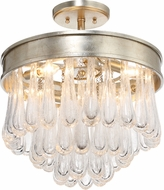 Crystorama JUL-7703-DT Julien Distressed Twilight Flush Lighting