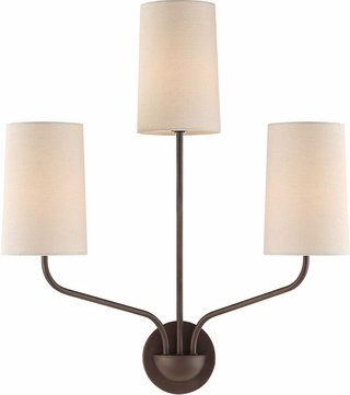 Crystorama LEI-203-DB Leigh Dark Bronze Wall Lighting Sconce