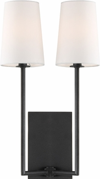 Crystorama LEN-252-BF Lena Black Forged Wall Lighting Fixture