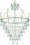 Crystorama LUC-A9066-SA Lucille Antique Silver Mini Ceiling Chandelier