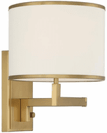 Crystorama MAD-B4101-AG Madison Contemporary Aged Brass Wall Swing Arm Lamp