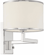 Crystorama MAD-B4101-PN Madison Contemporary Polished Nickel Wall Swing Arm Lamp