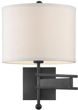 Crystorama MAR-A8031-MK Marshall Matte Black Swing Arm Wall Lamp