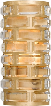 Crystorama MER-4862-GA Meridian Antique Gold Wall Sconce Light