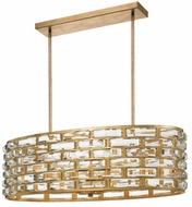 Crystorama MER-4869-GA Meridian Antique Gold Island Light Fixture
