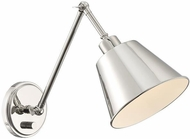 Crystorama MIT-A8020-PN Mitchell Polished Nickel 23  Swing Arm Wall Lamp