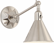 Crystorama MOR-8800-PN Morgan Polished Nickel Wall Swing Arm Lighing