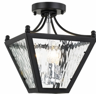 Crystorama PAR-693-MK-CH-CEILING Park Hill Matte Black + Polished Chrome Overhead Lighting
