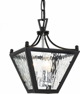 Crystorama PAR-693-MK-CH Park Hill Matte Black + Polished Chrome 9  Foyer Lighting