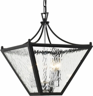 Crystorama PAR-694-MK-CH Park Hill Matte Black + Polished Chrome 16  Foyer Light Fixture