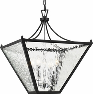 Crystorama PAR-696-MK-CH Park Hill Matte Black + Polished Chrome 21  Foyer Lighting Fixture