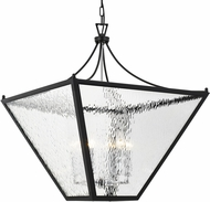 Crystorama PAR-698-MK-CH Park Hill Matte Black + Polished Chrome 27  Entryway Light Fixture