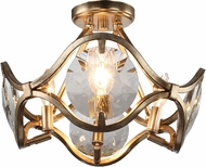 Crystorama QUI-7624-DT Quincy Distressed Twilight Flush Mount Light Fixture