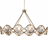 Crystorama QUI-7629-DT Quincy Distressed Twilight Ceiling Chandelier