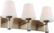 Crystorama RAM-A3403-VG Ramsey Modern Vibrant Gold 3-Light Bathroom Vanity Lighting