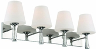 Crystorama RAM-A3404-PN Ramsey Contemporary Polished Nickel 4-Light Bathroom Vanity Light