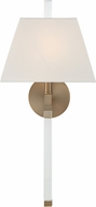 Crystorama REN-261-AG Renee Aged Brass Wall Lamp