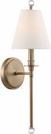 Crystorama RIV-382-AG Riverdale Aged Brass Sconce Lighting