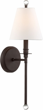 Crystorama RIV-382-DB Riverdale Dark Bronze Lighting Sconce