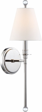 Crystorama RIV-382-PN Riverdale Polished Nickel Lamp Sconce