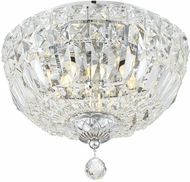 Crystorama ROS-A1003-CH-CL-MWP Rosyln Polished Chrome 10 Ceiling Light Fixture