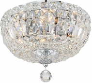 Crystorama ROS-A1004-CH-CL-MWP Rosyln Polished Chrome 12 Ceiling Lighting Fixture